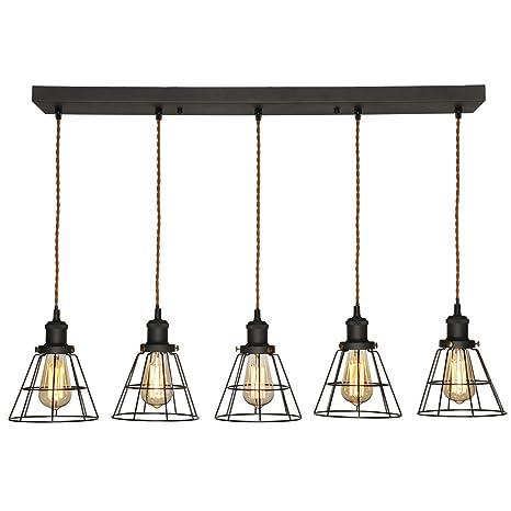 TANGSHI Industrial Vintage Lámpara colgante Lámpara de techo ...