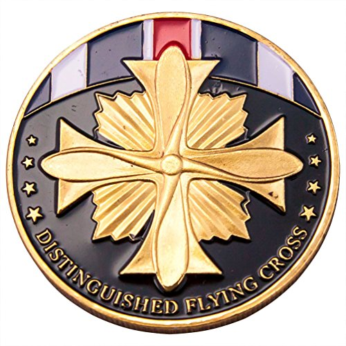 Flying Cross Distinguished (Distinguished Flying Cross Challenge Coin Badge J002)