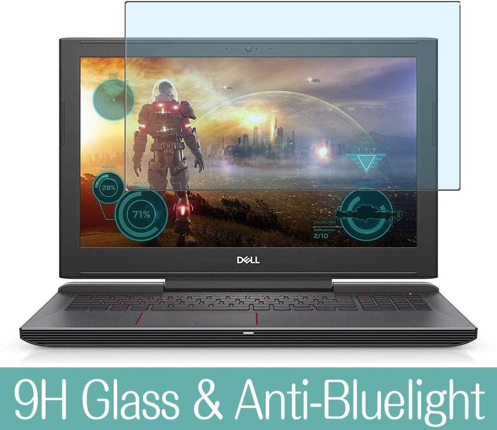 "Synvy Anti Blue Light Tempered Glass Screen Protector Compatible with Dell G5 15 5587 15.6"" Visible Area 9H Protective Screen Film Protectors"