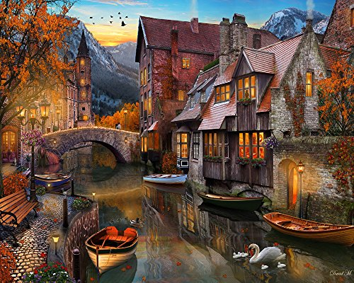 Vermont Christmas Company Autumn Canal Jigsaw Puzzle 1000 Piece ()