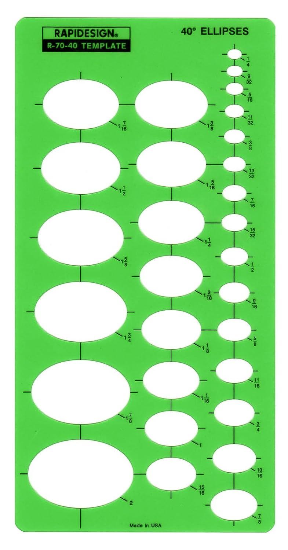 Combination Ellipse Master Berol Rapidesign Template R-479