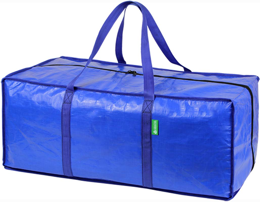 Storage and Moving Bag Set with Zipper Closure (8 Pack). Extra-large, Heavy Duty, Thick Oversized Wardrobe Totes. Bins for Clothing, Comforters, Blankets, Dorm Room Essentials, Decorations, Supplies by Creative Green Life (Image #1)