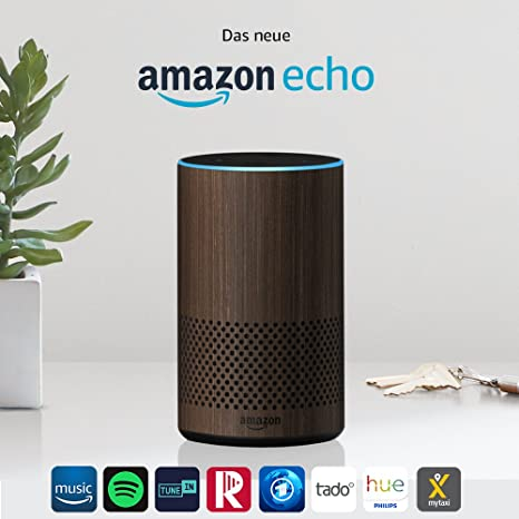 Amazon Echo, Zertifiziert und generalüberholt, (2. Generation), Nuss Optik