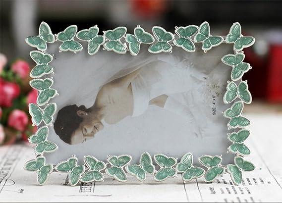 weiwei Creativo marco metal, Marco mariposa 6 pulgadas 7 pulgadas 8 pulgadas portaretrato Foto marco de decoración del hogar-A 10.2x15.3cm(4x6inch): ...