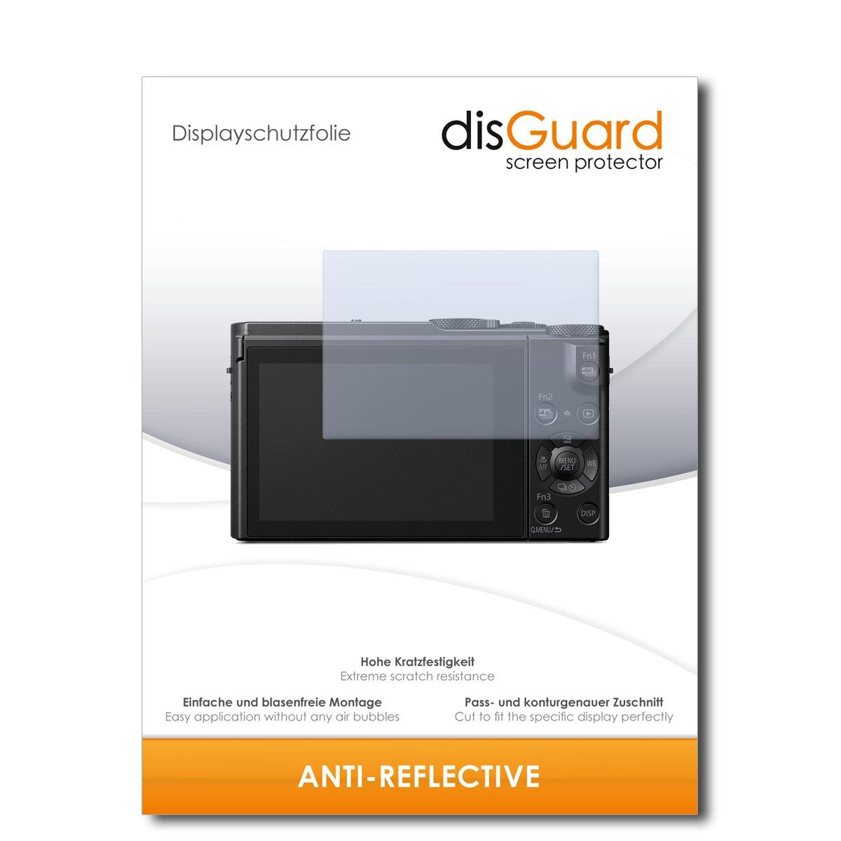[2 Pièces] Panasonic Lumix DMC-LX15 Protecteur d'écran disGuard® [Anti-Reflex] Antireflets, Mat, Anti-reflet / Extrêmement résistant, Anti-bulles, Anti-Empreinte digitale, Protection / Film, Protection contre les rayures
