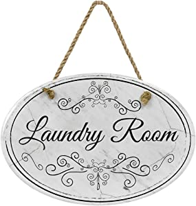 """Laundry Room Ceramic Marble Bathroom Sign 