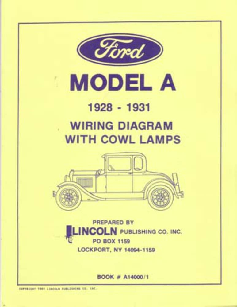 1928 1929 1930 1931 Ford Model A Electrical Wiring Diagrams Schematics Manual