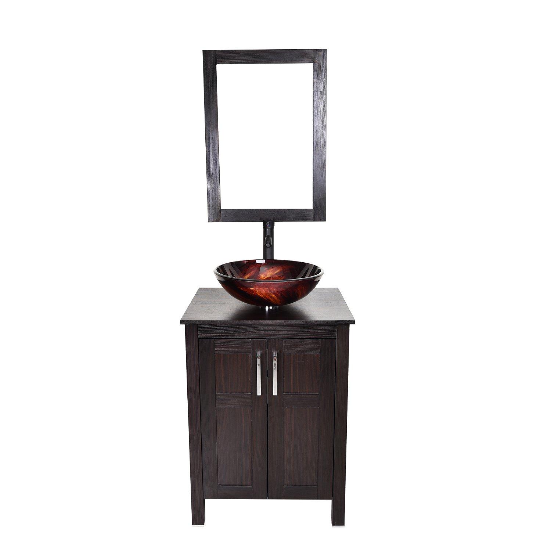 "Elecwish 24"" Modern Bathroom Vanity Suite Stand Pedestal Cabinet"