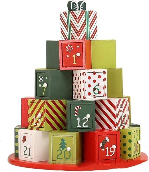 Caja De Regalo del Calendario De Adviento De Navidad, Modelo De ...