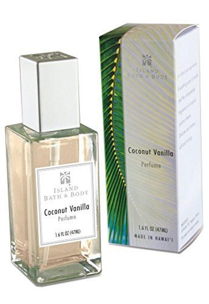 Value Pack 8 Bottles Island Bath & Body Coconut Vanilla Perfume 1.6 oz. Each