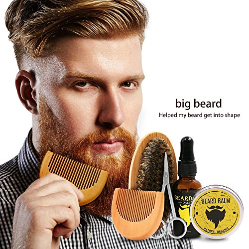 Beard Brush Comb Beard Oil Balm Butter Wax Gift for men Beard Grooming - And Beards Mustaches Styled