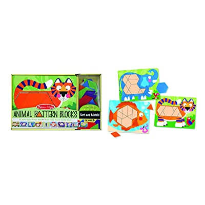 Melissa & Doug Animal Pattern Blocks: Melissa & Doug: Toys & Games [5Bkhe2006365]