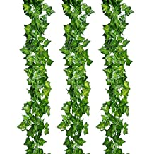 Outus 12 Pack Artificial Greenery Ivy Vine Leaves Garland for Wedding Party Garden Wall Decoration