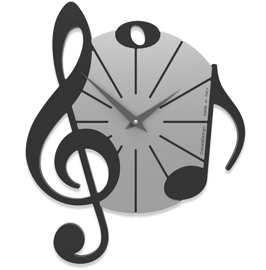 CalleaDesign 壁時計 Vivaldi (黒) B07DSFWLFH黒