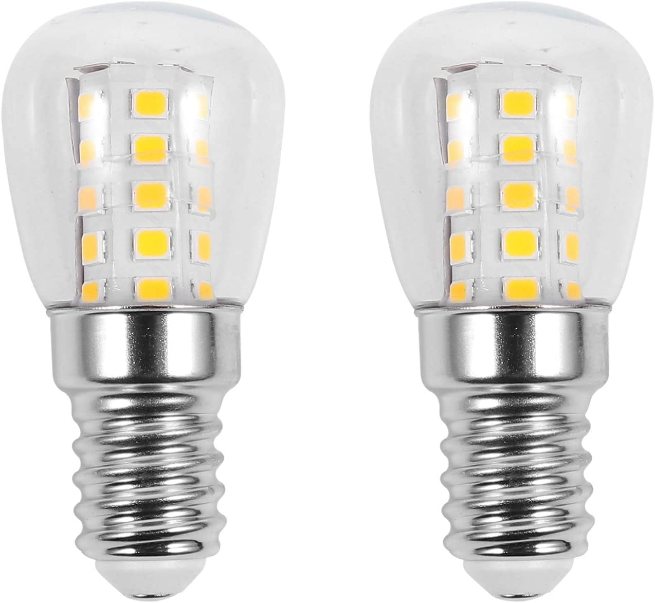 OSALADI 2 bombillas E14 de 3 W, resistentes a altas temperaturas, bombillas de cristal transparente, para horno, frigorífico, microondas