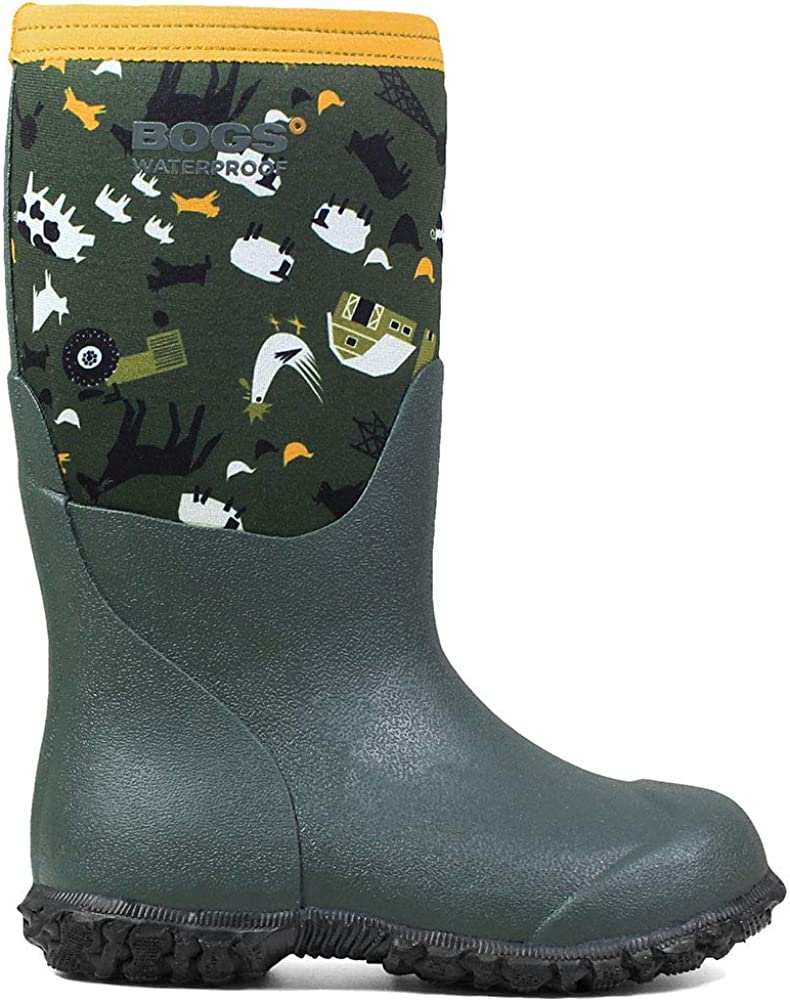 BOGS Little Kids Range Farm Boot Green Multi Size 2 M US Little Kid