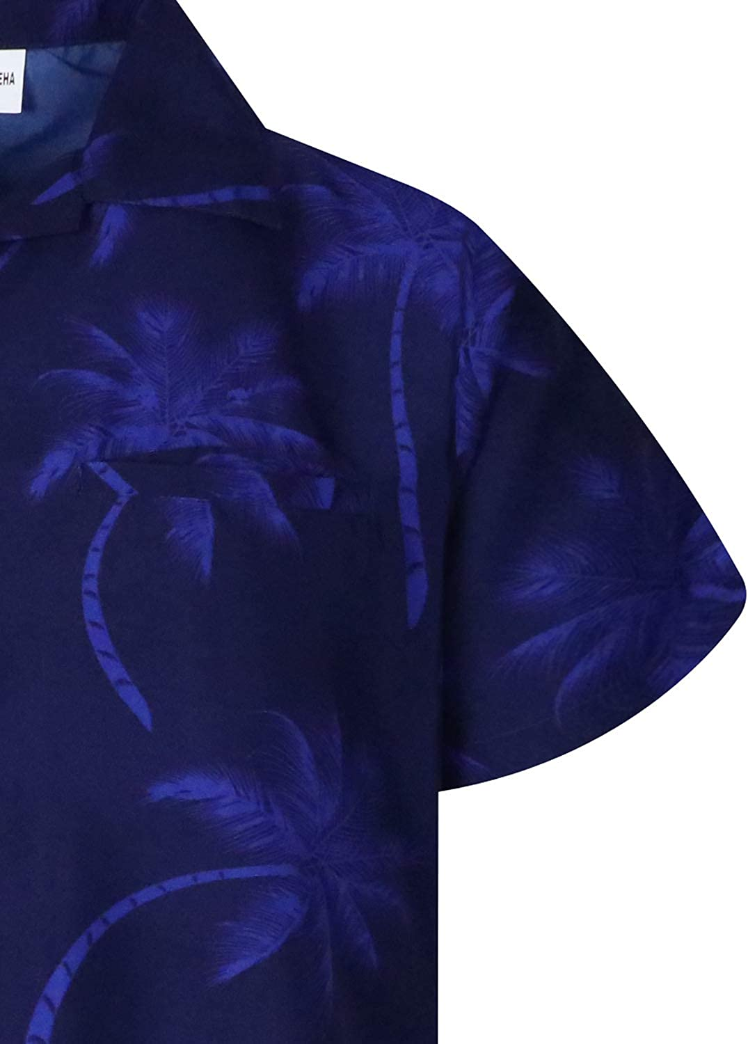 King Kameha Hawaiian Shirt for Men Funky Casual Button Down Very Loud Shortsleeve Unisex Palmshadow