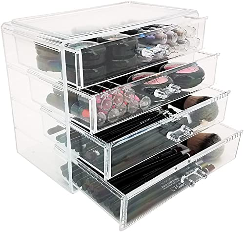 OnDisplay 4 Drawer Lily Cosmetic Jewelry Organizer, Clear, NULL