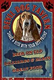 Devil Dog Tavern Vintage Sign - Basset Hound (9x12 Art Print, Wall Decor Travel Poster)