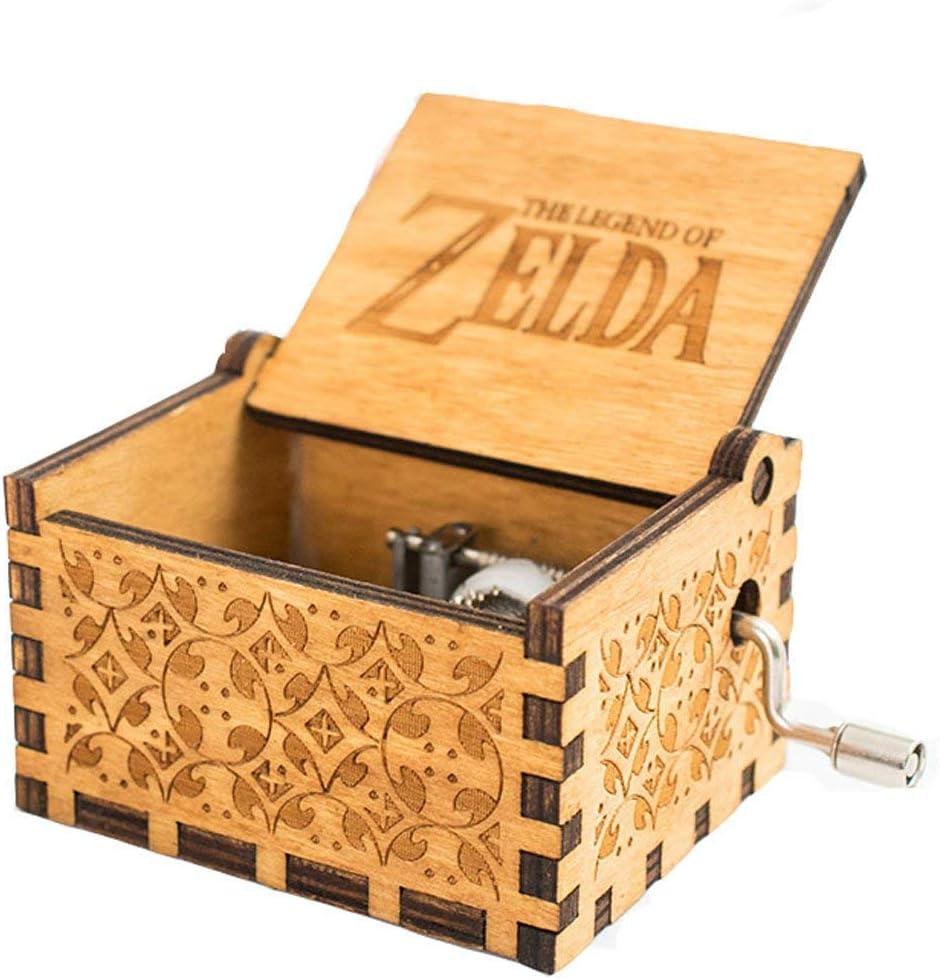 Wood MINSOTO Antique Bo/îte /à Musique en Bois sculpt/é /à la Main /à Musique The Legend of Zelda Th/ème Cadeau