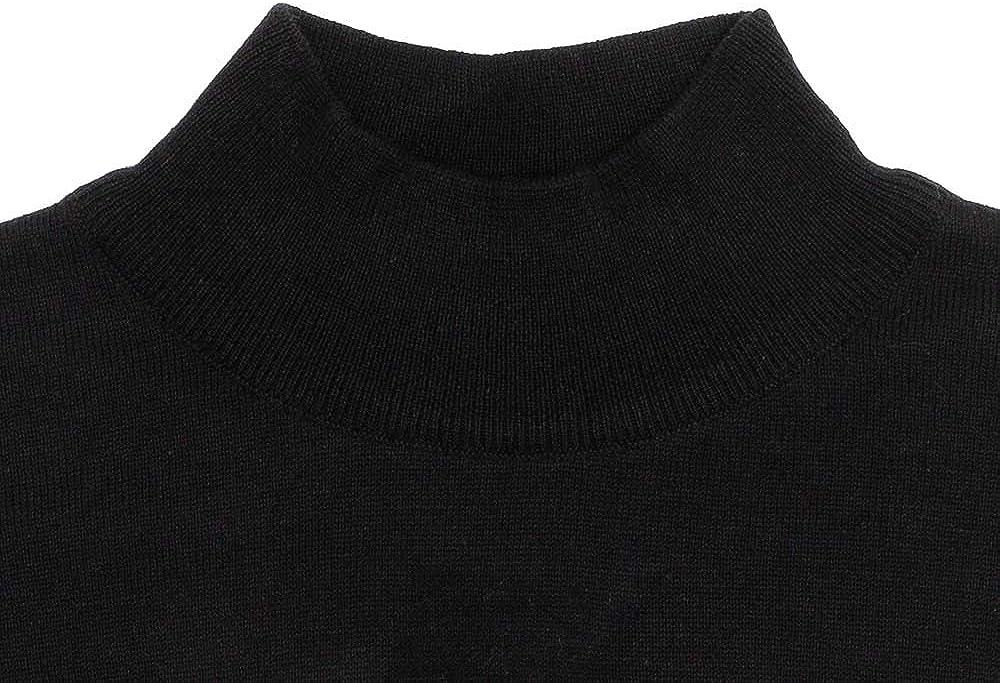 Paul James Knitwear Mens 100/% Ultra Fine Cotton Mock Turtle Neck Jumper