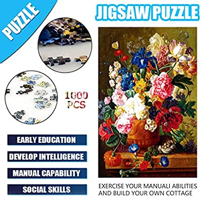 Jigsaw Puzzles for Adults 1000 Piece Large Puzzle, Flower Paintings Jigsaw Puzzle - 29.53