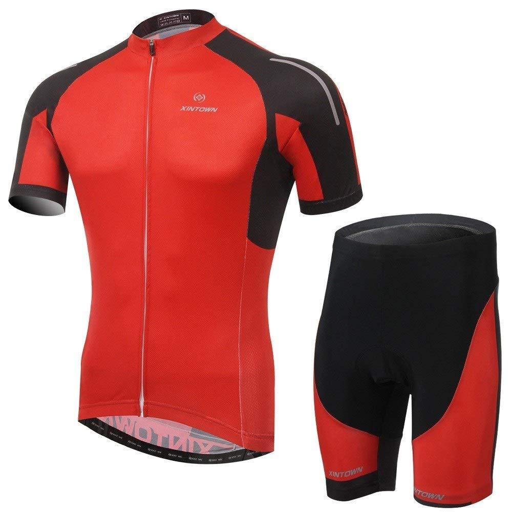Fahrradtrikot Reiten Sommer Kurzarm Radsportanzug Anzug Fahrrad Tragen Feuchtigkeitstransport Atmungsaktive Hosen Fahrrad Trikot LPLHJD