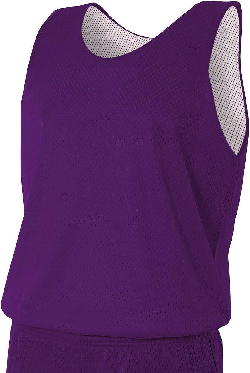 A4 de Hombre nf1270 nf1270-puw Reversible Malla Camiseta de Tirantes, Hombre, NF1270, Violeta y Blanco, Small: Amazon.es: Ropa y accesorios