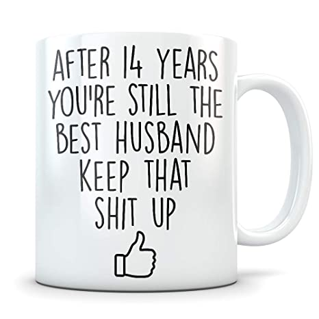 14th Anniversary Gift for Men - Funny 14 Year Wedding Anniversary for Him - Best Marriage  sc 1 st  Amazon.com & Amazon.com: 14th Anniversary Gift for Men - Funny 14 Year Wedding ...