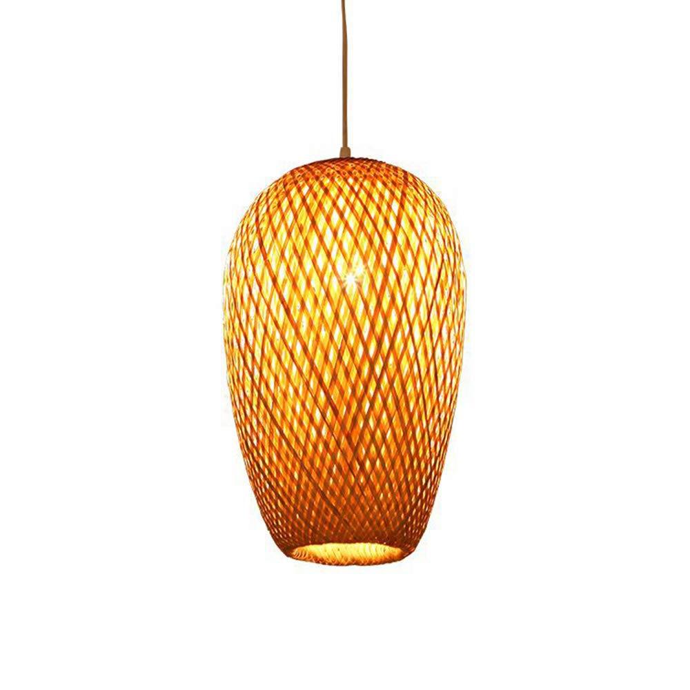 MTCTK Lustre en Bambou Fait Main Bricolage Creative Lampe de Suspension en Bambou Salon Suspendu d/écoratif,S