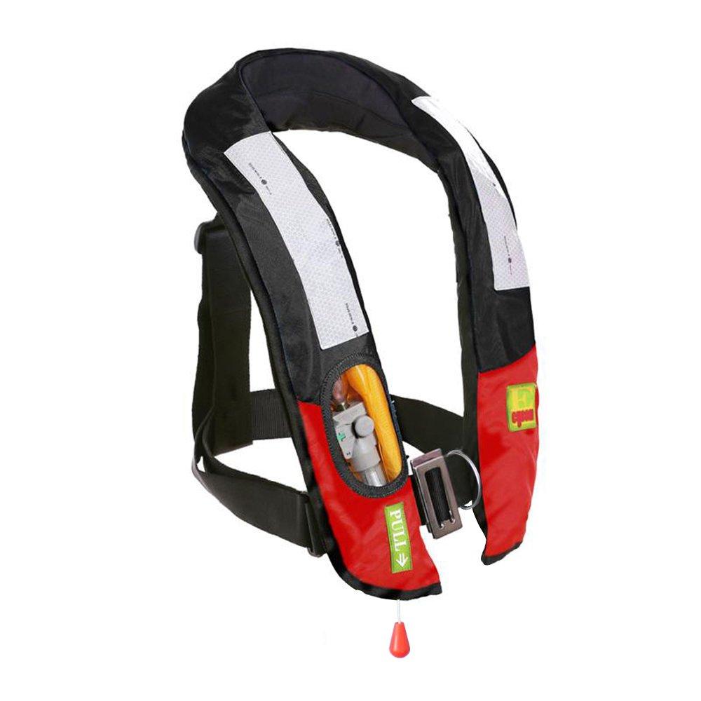 Eyson Slim Inflatable PFD Life Jacket Life Vest Adult Manual (ES639717 Black)