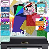 Silhouette Black Cameo 3 Bluetooth Heat Transfer T-Shirt Vinyl Bundle with Siser Vinyl, Swatch Book, Guides, Class, Membership and More