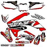 04 crf 450 graphics - Senge Graphics 2002-2004 Honda CRF 450R Fly Racing Red Graphics kit