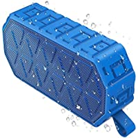 Bluetooth Speakers, Tinzzi IPX6 Outdoor Wireless Speaker with Bluetooth 4.2 technology, 1000mAh Battery, Built-in Mic for iPhone, iPad, Samsung, Nexus, HTC and Other Bluetooth Devices(Blue)