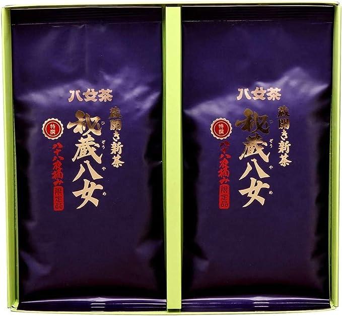 岩﨑園製茶 新茶 2020年産 福岡県産 八女茶 お歳暮 特選秘蔵八女 100g × 2袋 ギフト セット