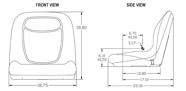 The ROP Shop New Camo HIGH Back SEAT w//Slide Track Kit for Case Forklift Fork Lift Truck