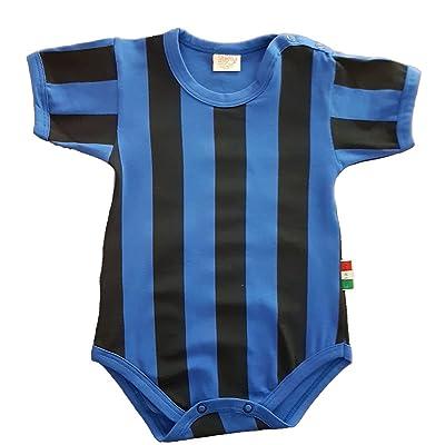 Zigozago Body Bébé aux rayures bleues et noires - INTER Taille: 0 mois - Pourun article personnalisé sélectionnez https://www.amazon.fr/dp/B075SN3JK9