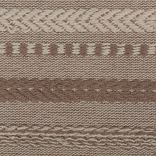 DII 15x72 Braided Cotton Table Runner, Stone Taupe Perfect for Spring, Fall Holidays, Parties and Everyday Use by DII (Image #1)