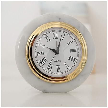 SMC Reloj de Mesa Decorativo de mármol Moderno de mármol Europeo ...