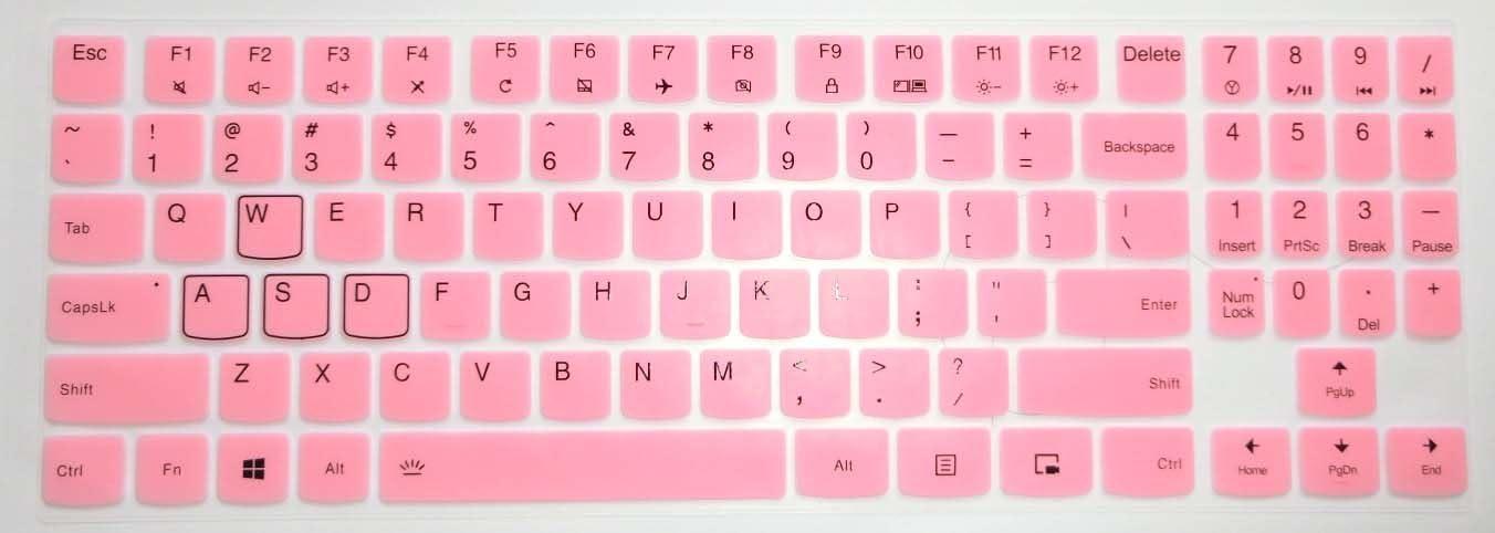 BingoBuy US Layout Keyboard Protector Skin Cover for 15.6'' Lenovo Legion Y720 Y540 Y545 Y530 Y520 R720 Y7000(15''), Y730 Y740 (17'') with BingoBuy Card Case (Light Pink)