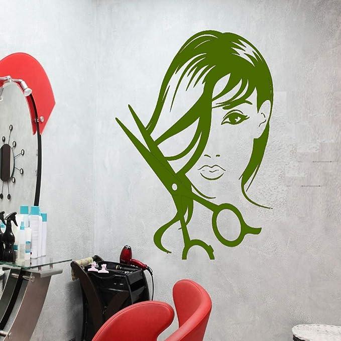 xingbuxin Chica Salón de Belleza Tatuajes de Pared Peluquería ...