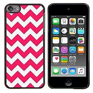 Planetar® ( Líneas rosadas Modelo blanco de verano ) Apple iPod Touch 6 6th Touch6 Fundas Cover Cubre Hard Case Cover