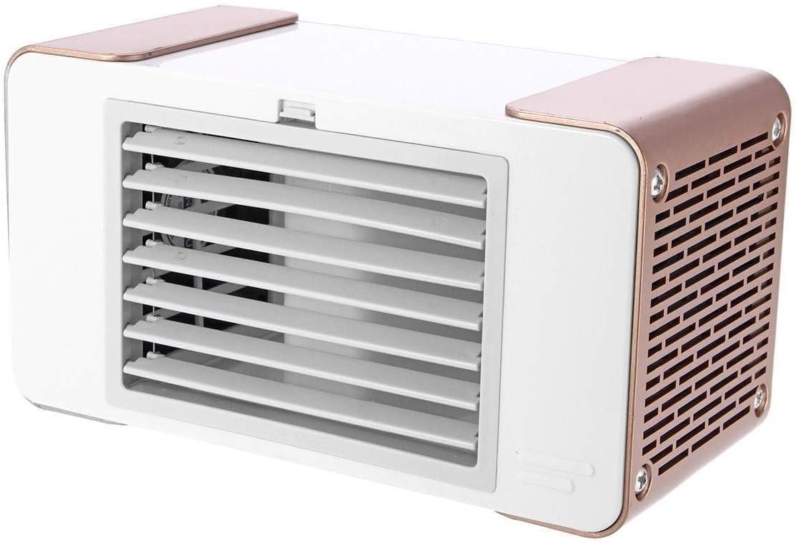 Color : Grey Air Cooling Fan 5V USB Mini Fan Portable Table Air Cooling Fan Summer Cooling Machine Desk Equipment Low Power Saving Energy