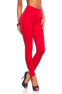 FUTURO FASHION - Leggings Suaves para Mujer - Algodón - Rojo ...