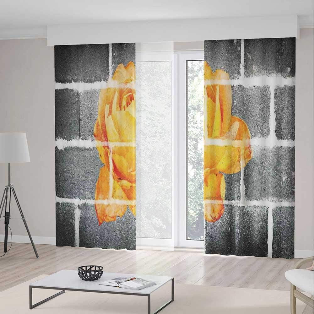 ALUONI Cortinas de Dormitorio Opacas TT02 decoración rústica para Sala de Estar Puerta corredera Envejecida con Textura rústica 2 Paneles Set: Amazon.es: Hogar