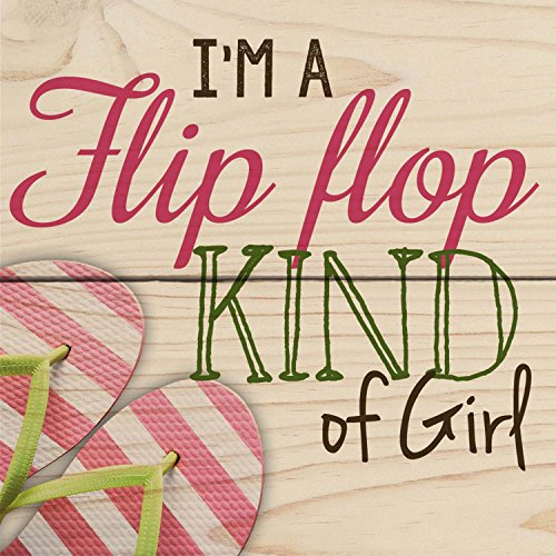 I'm A Flip Flop Kind Of Girl Sandals Wood Magnet