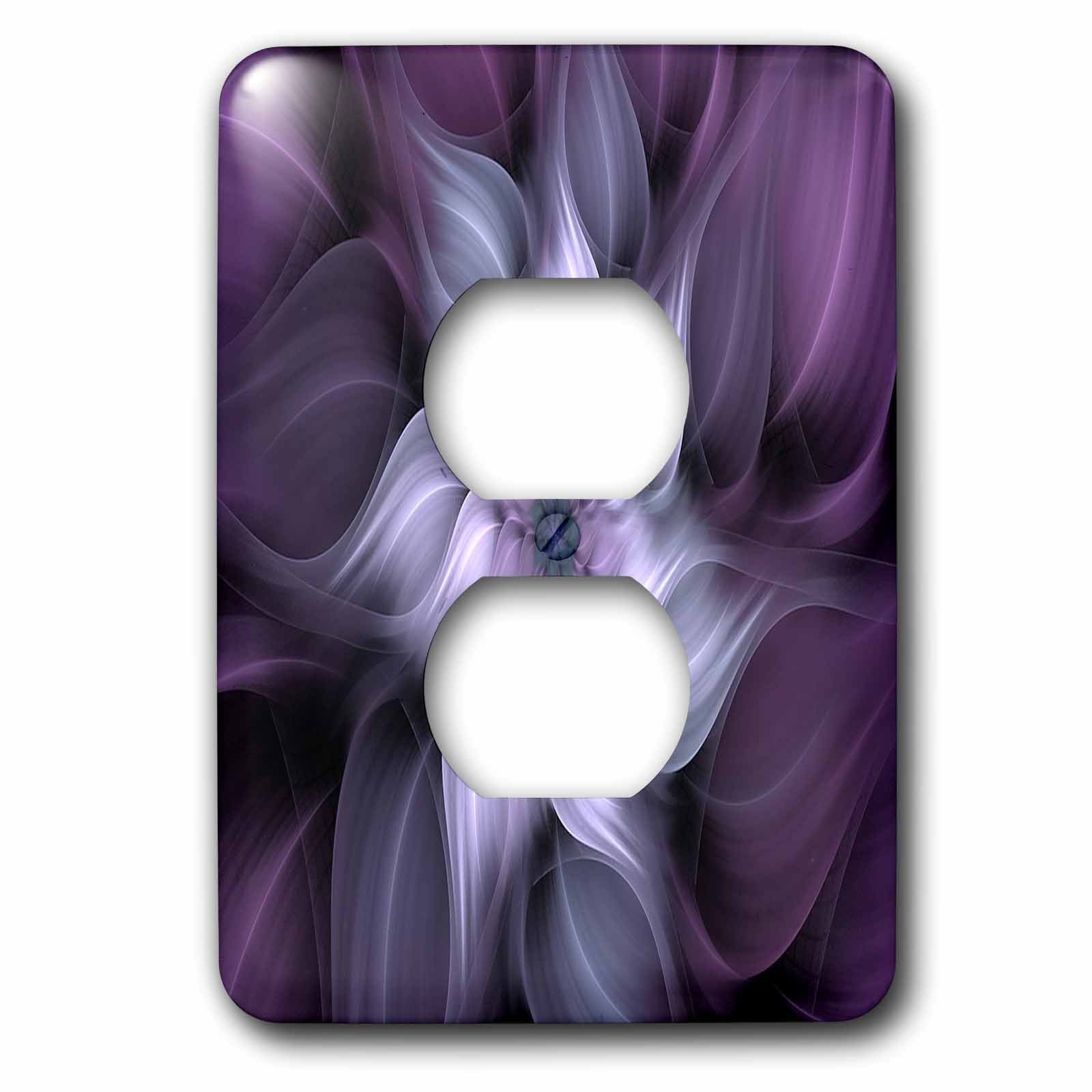 3dRose LSP_273403_6 Image of Fractal Abstract Blur Purple Flower Plug Outlet Cover,