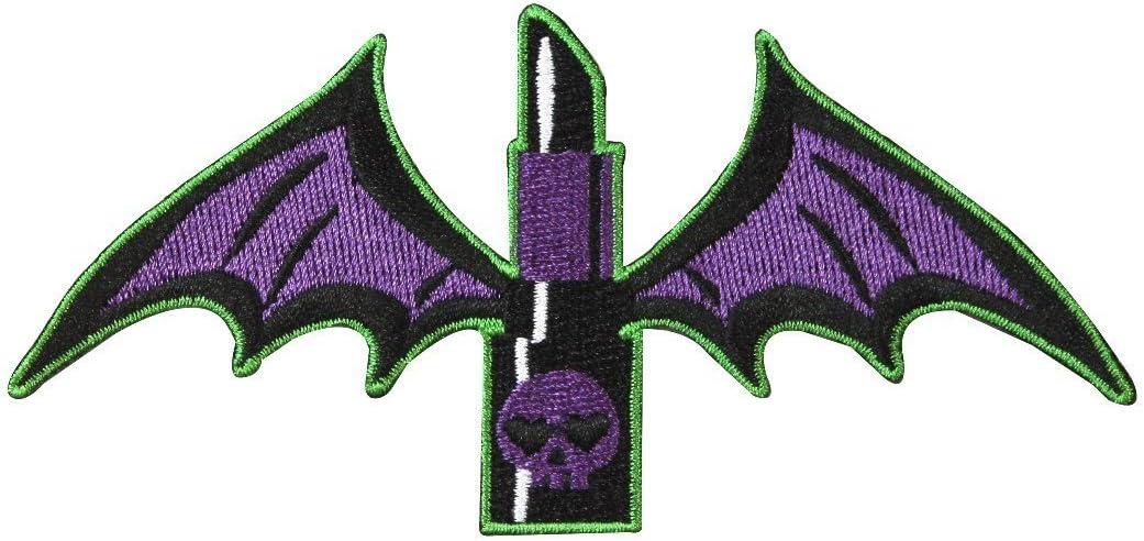 Kreepsville 666 Lipstick Wings Skull Patch Iron Gothic