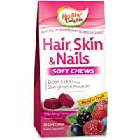 Healthy Delights Hair, Skin and Nails Chews, Wild Berry Flavor, 30 Count