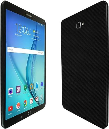 2016 Skinomi Black Carbon Fiber Skin Protector For Samsung Galaxy Tab A 10.1